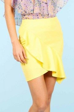 minueto falda yellow lola skirt
