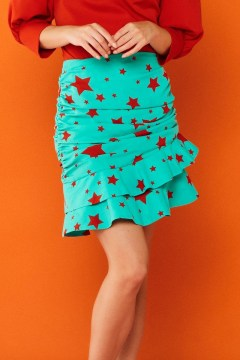 minueto red star skirt