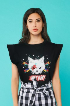 minueto rock cat t-shirt
