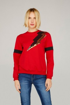 minueto gold bolt sweatshirt