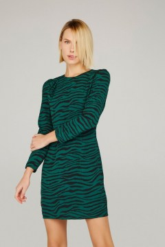minueto green tiger dress
