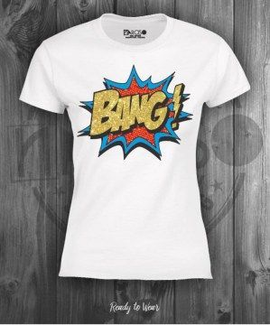 narciso camiseta bang glitter white