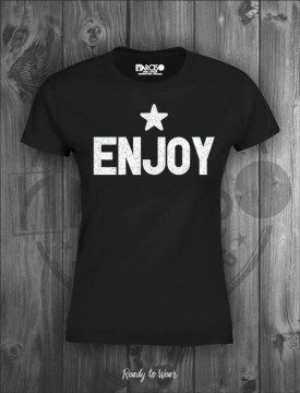 narciso camiseta enjoy glitter black