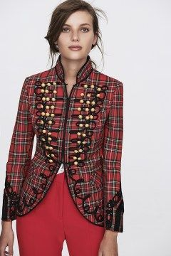 the extreme collection chaqueta cuadros rojo alex